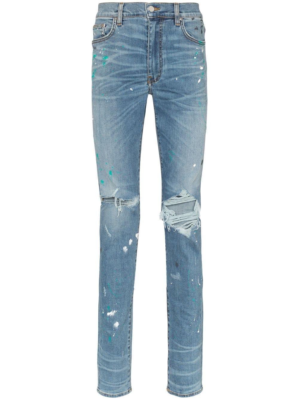 Paint Splatter Jean