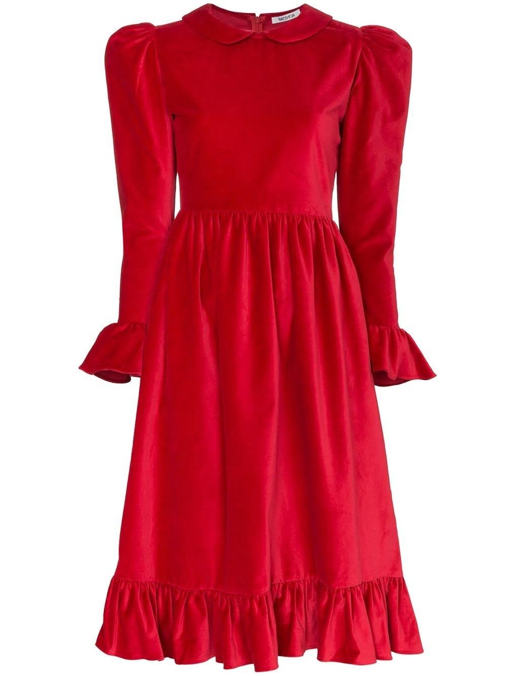 BH W 0029PETER PAN DRESS RED