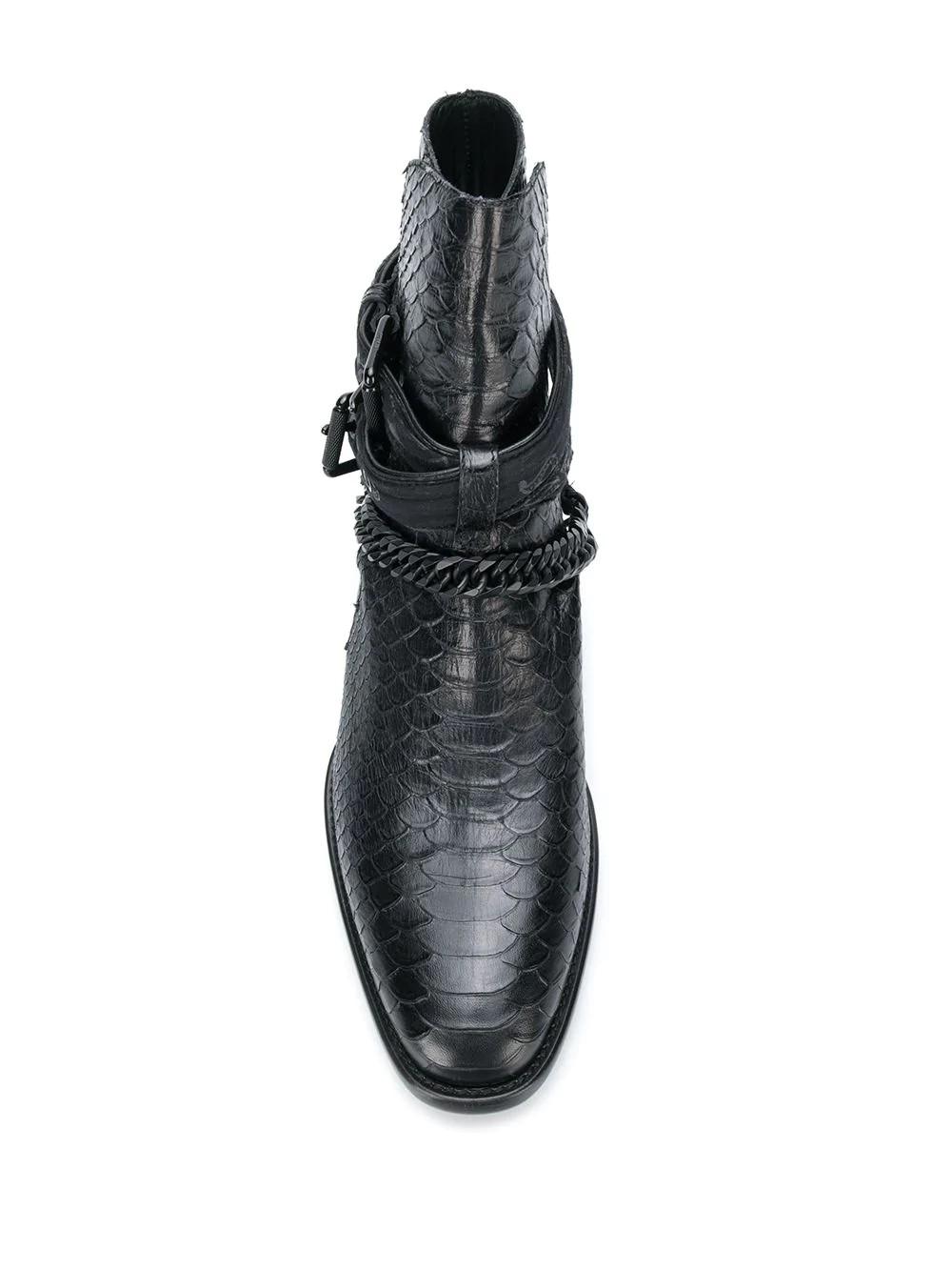 Buckle Chain Boot