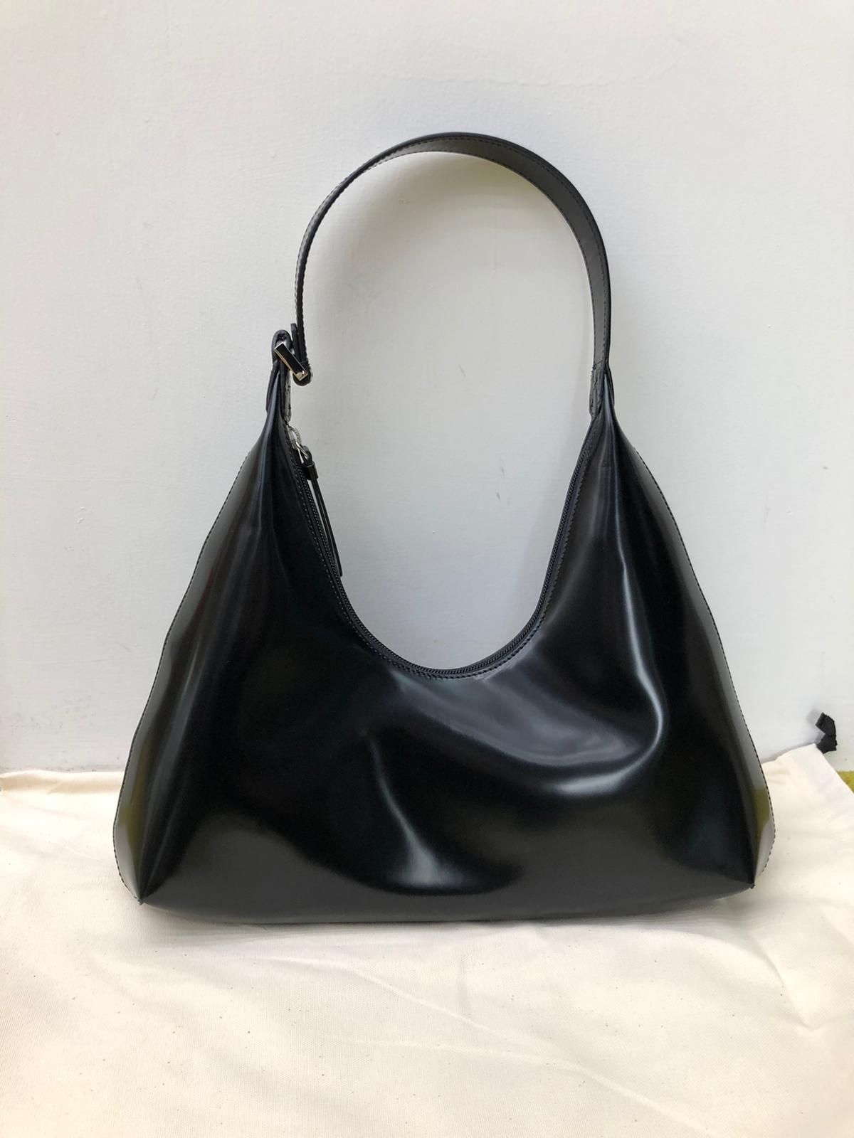 Amber Black Semi Patent Leather