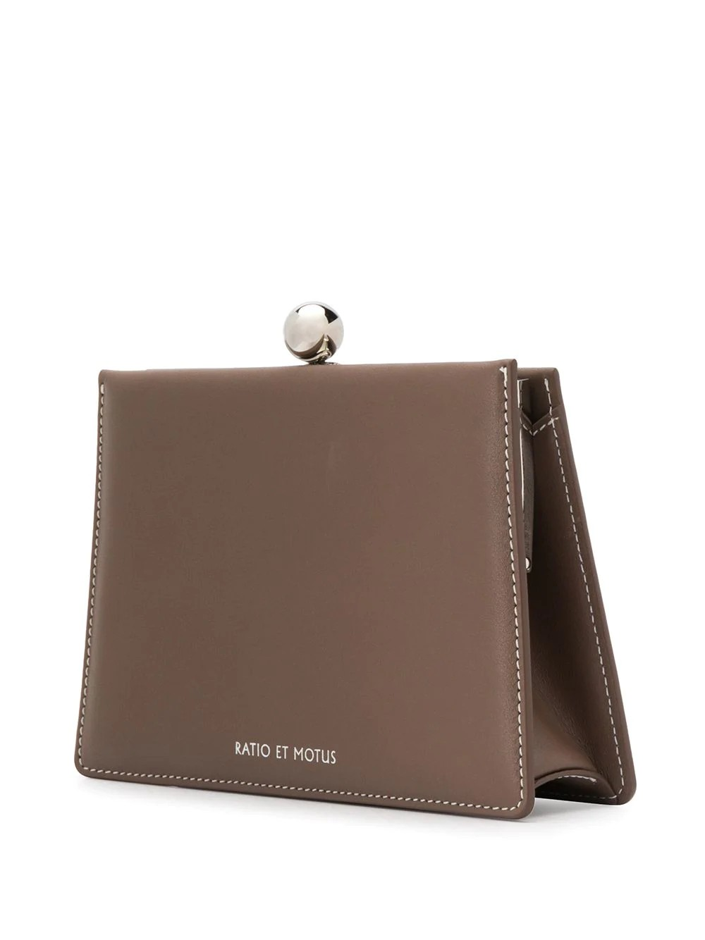 MINI TWIN Customized brass frame closure with detachable shoulder strap  - 60% Cowhide Leather, 40% Vegan Leather
