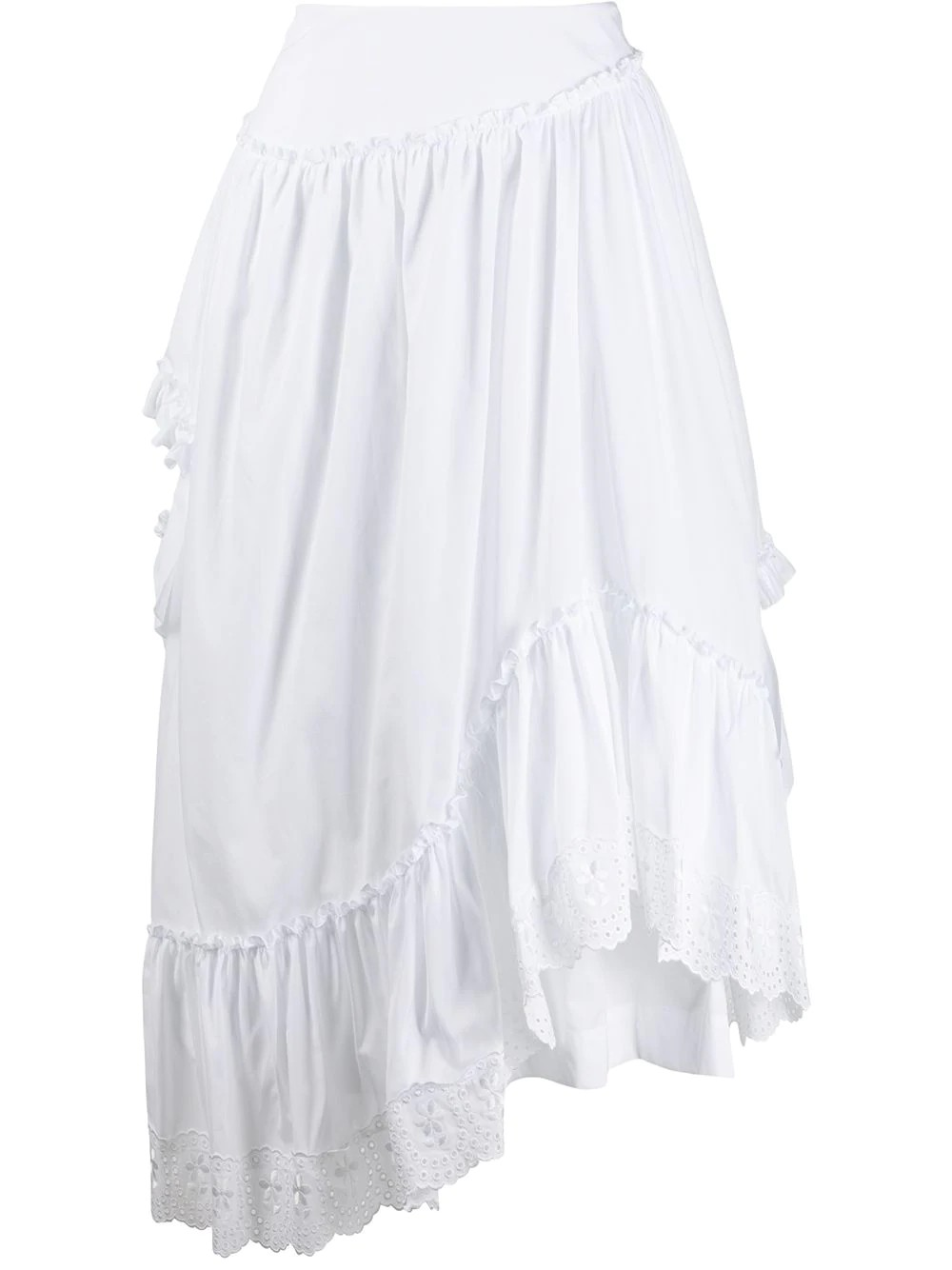ASYMMETRIC FRILL SINGLE BITE SKIRT