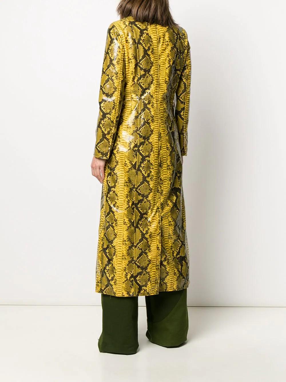 Sasha Coat Patent Faux Snake