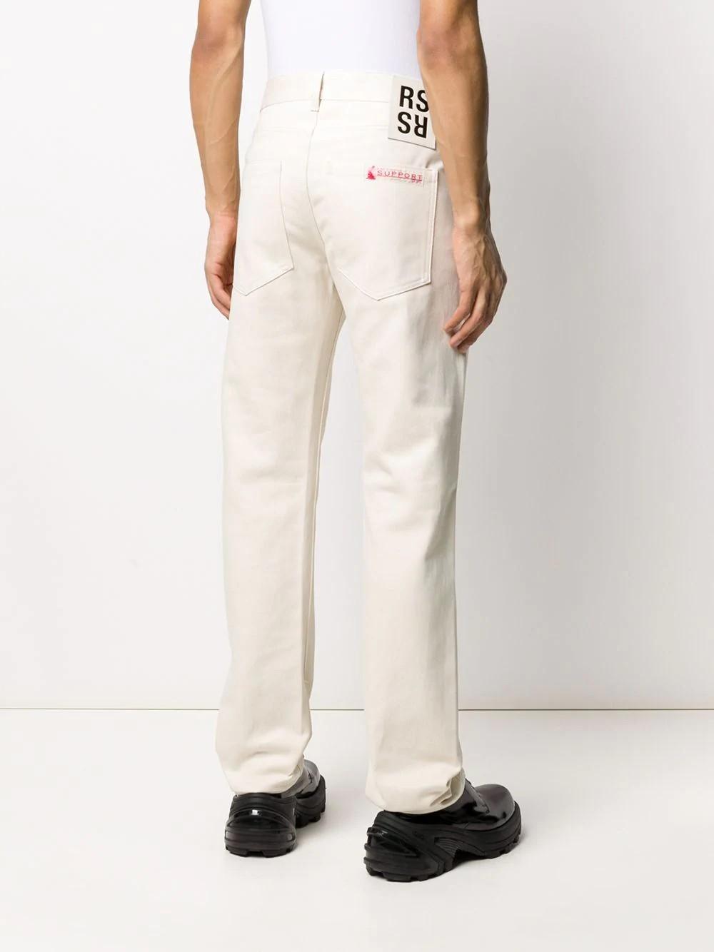 Slim fit denim pants with label
