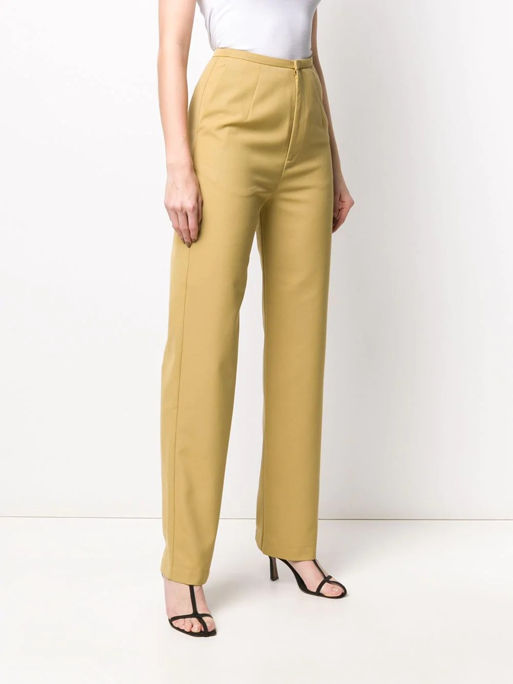HIGH-WAISTED LONG TROUSERS WITH STRAIGHT LEGS