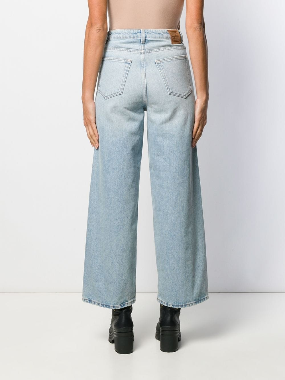 HIGH WAISTED JEANS WITH WIDE FIT