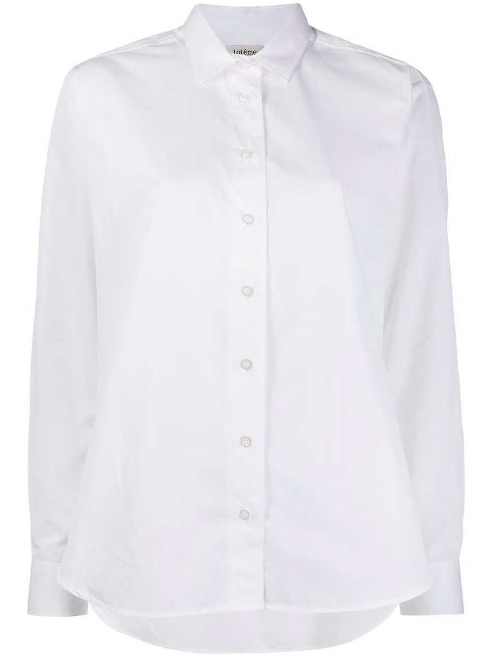 OVERSIZED POPLIN SHIRT WITH EMBROIDERY MONOGRAM