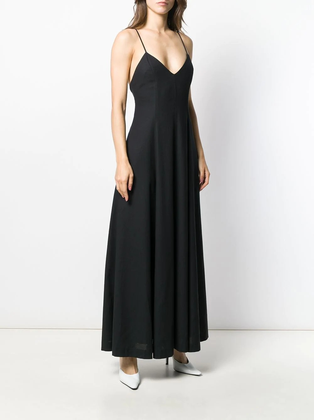 WOMAN WIDE DRESS V COLLAR WITH ZIP