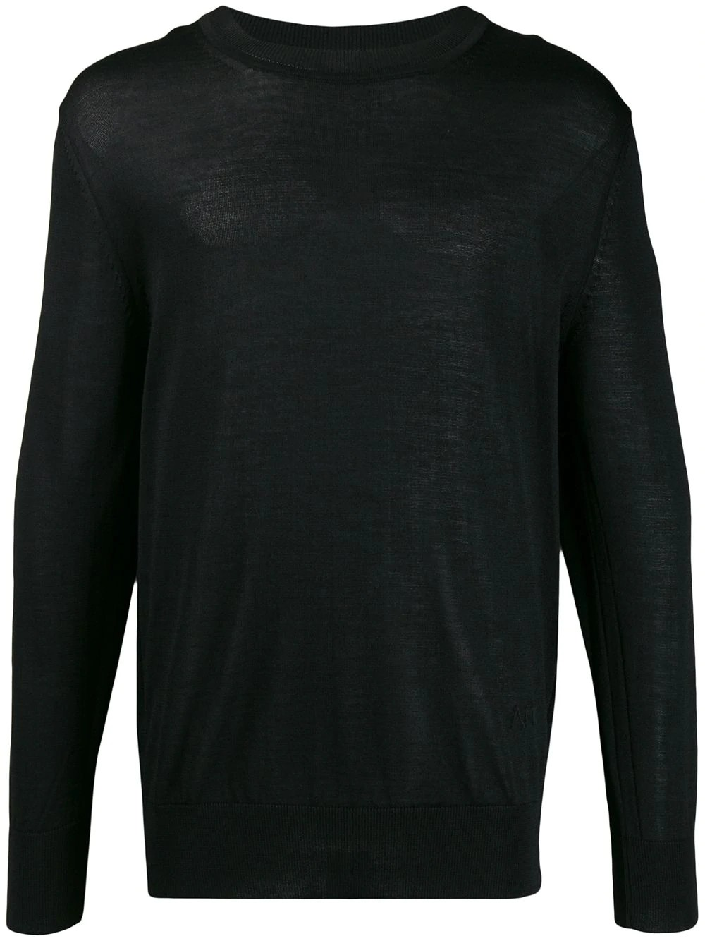 MEN AMI EMBROIDERY CREWNECK SWEATER