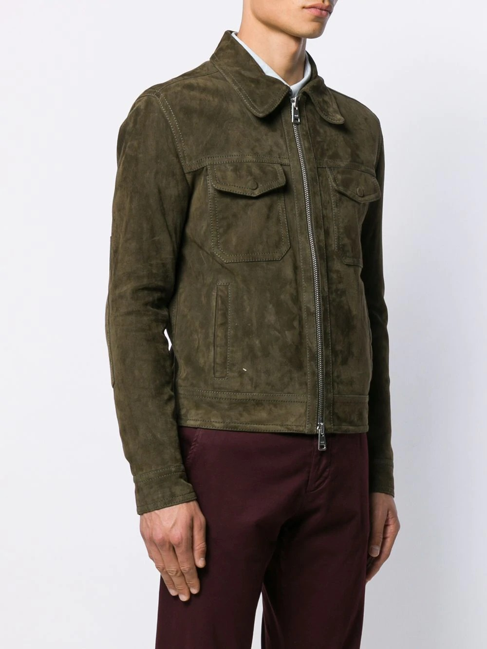 MEN SUEDE JACKET WITH PATCH POCKETS