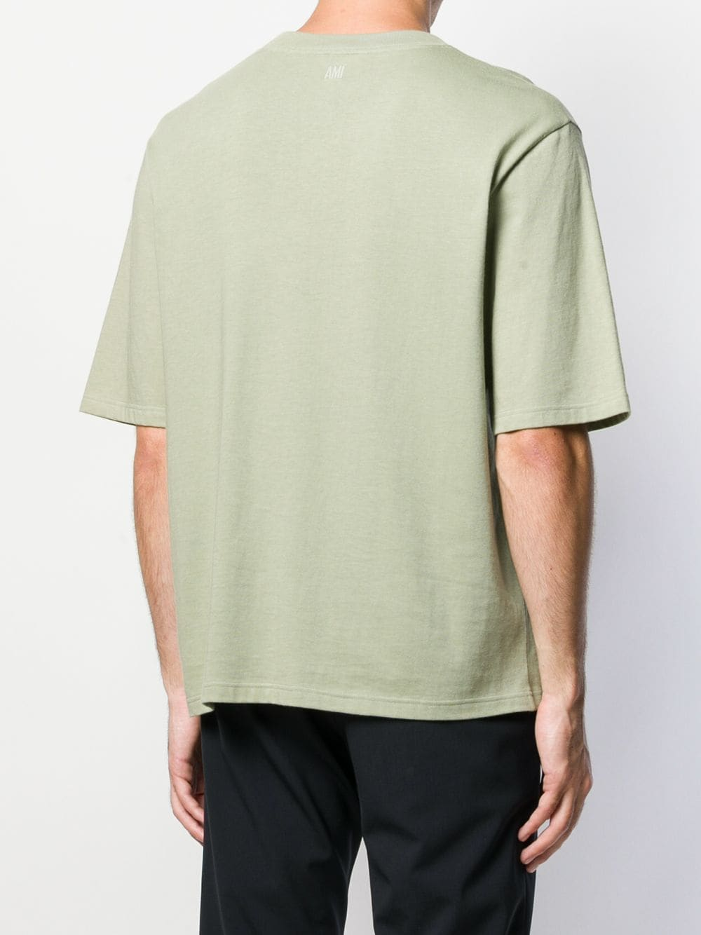MEN T SHIRT WITH AMI LABEL ON FRONT