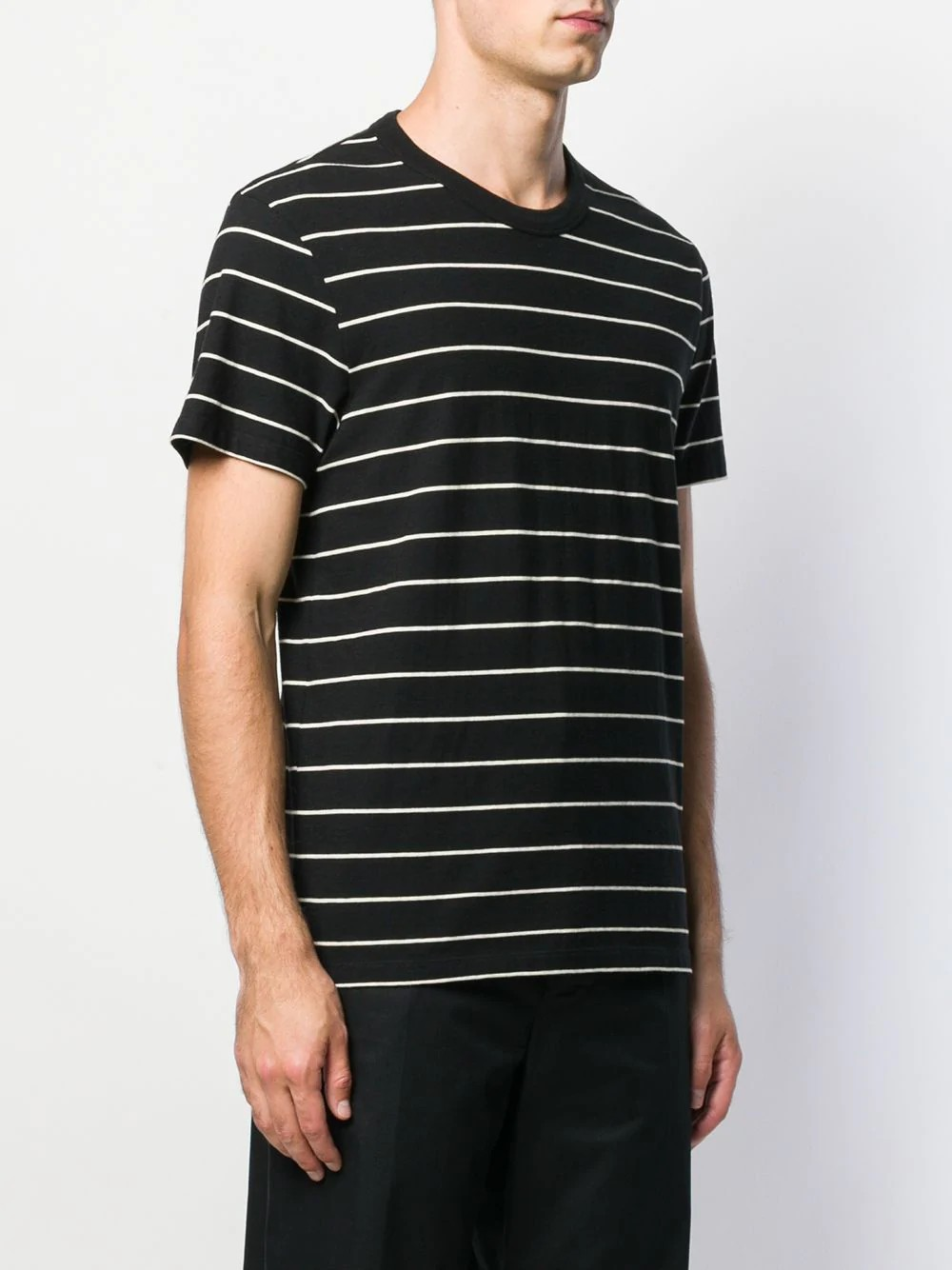 MEN SHORT SLEEVED STRIPED TEE SHIRT WITH  AMI TAB