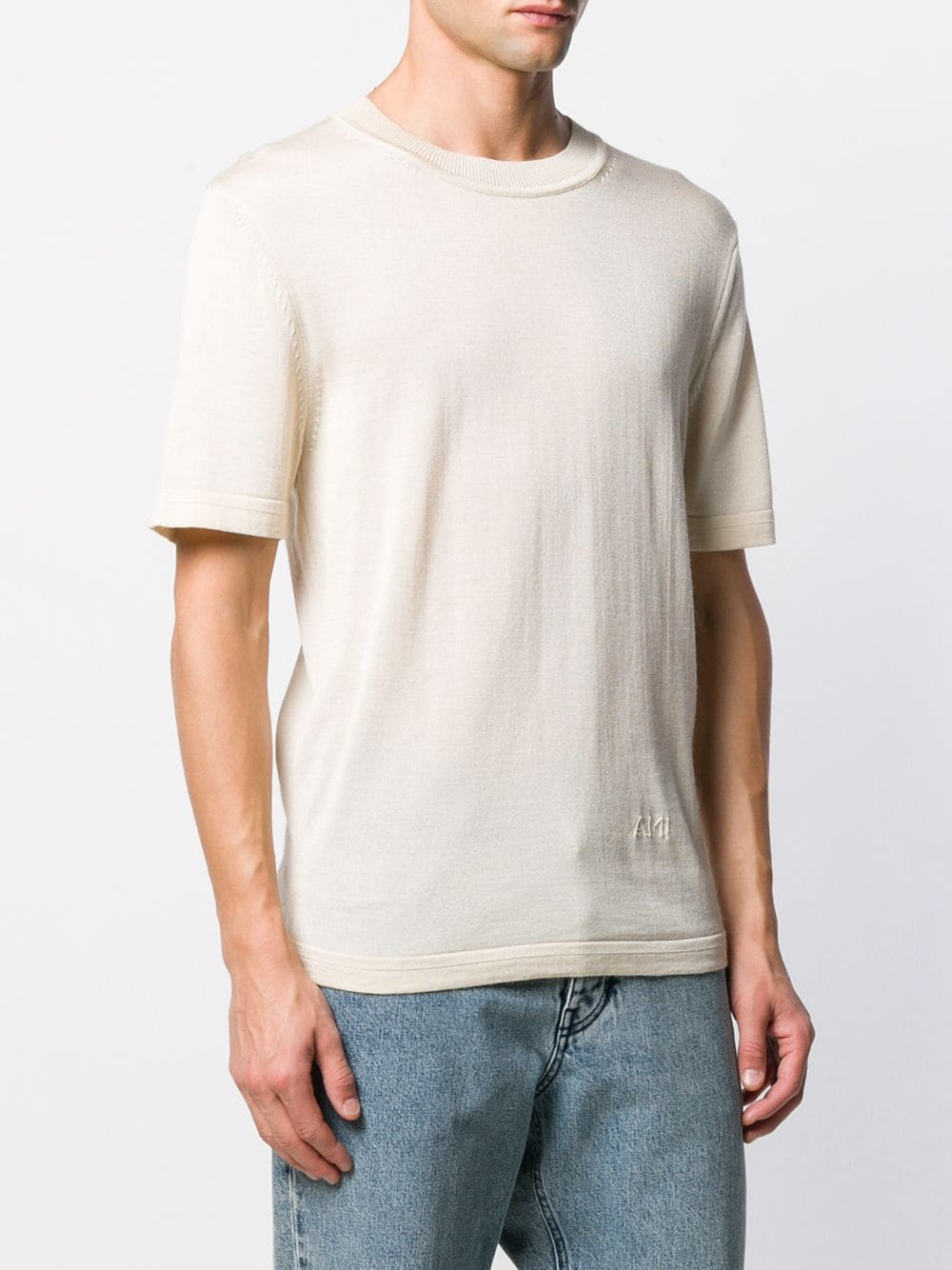 MEN CREWNECK SHORT SLEEVE SWEATER