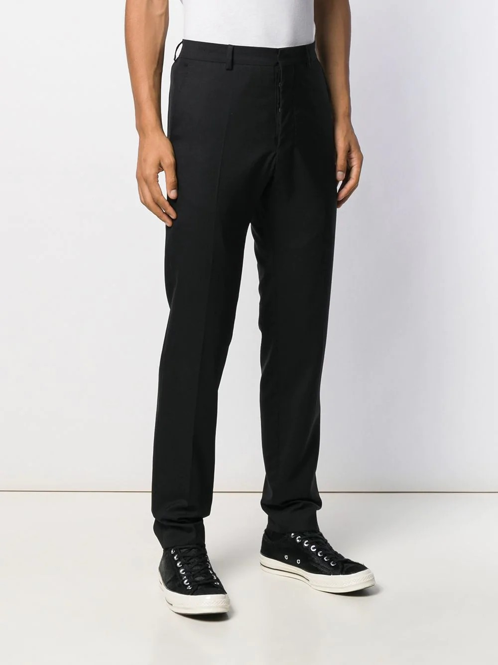 MEN CIGARETTE LEG TROUSERS