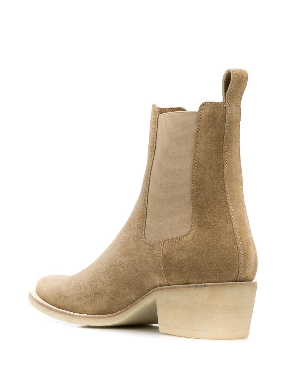 Crepe Pointy Toe Chelsa Boot