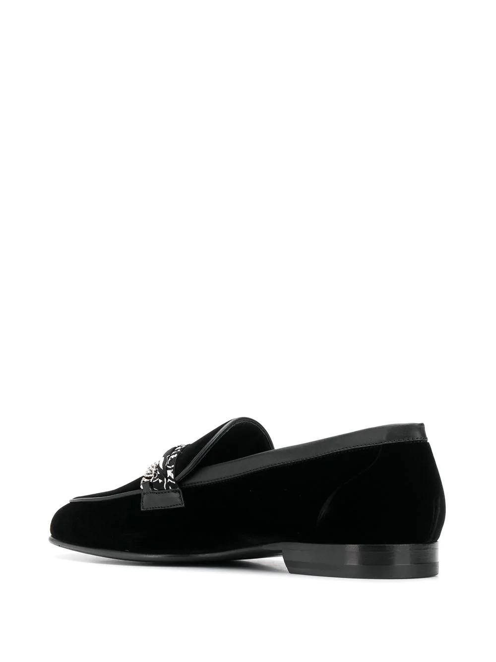 Bandana Chain Velvet Loafer