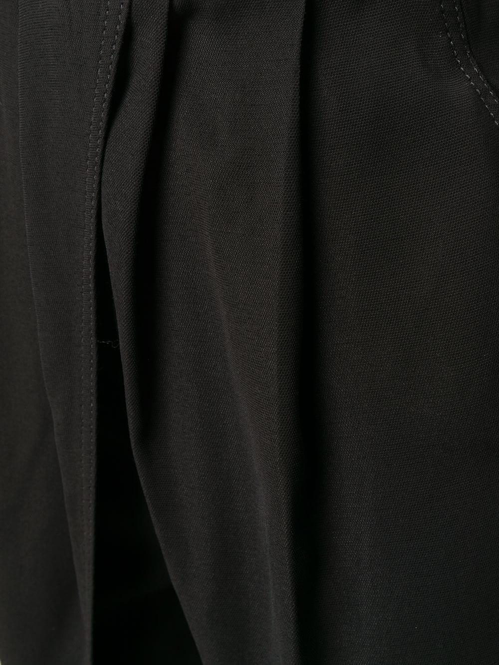Crepe viscose pants with cuts