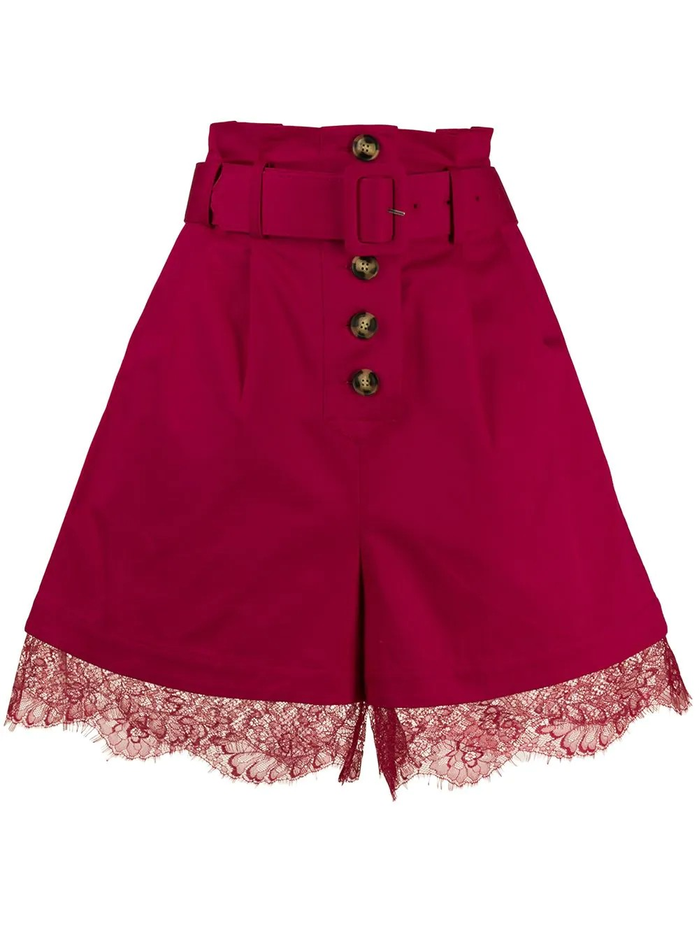 FUCHSIA CANVAS BERMUDA SHORTS