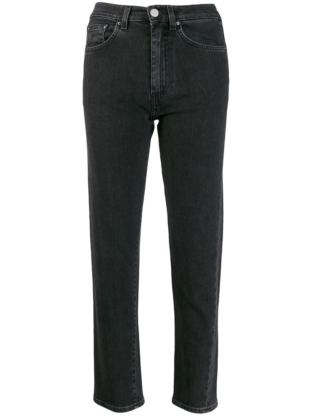 MID WAIST ORIGINAL DENIM WITH CROPPED LENGHT/TWISTED SEAM