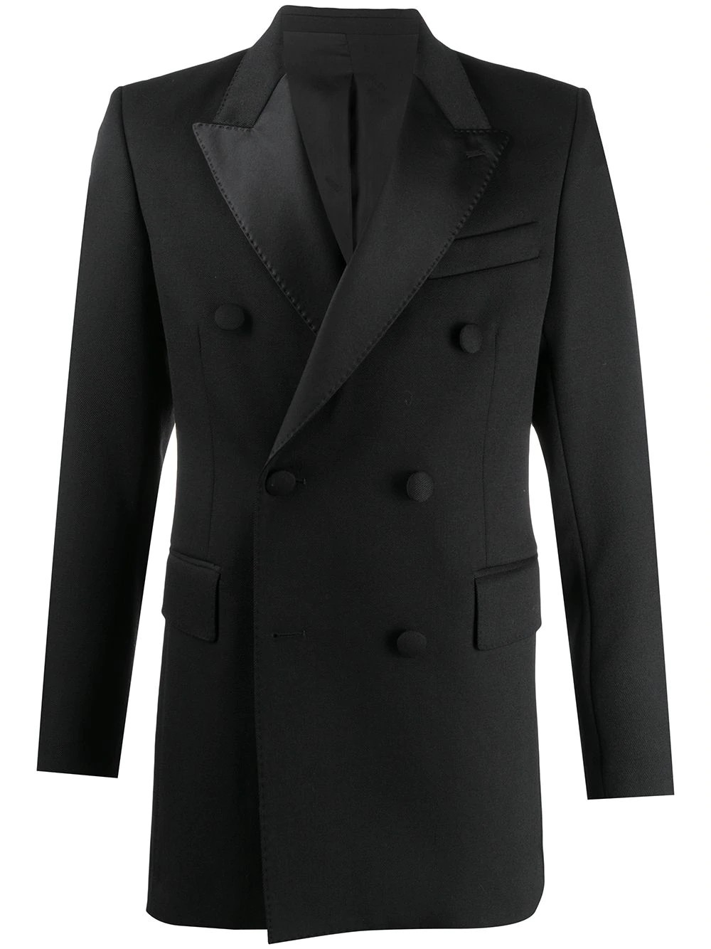 MEN DOUBLE BREASTED LINED SMOCKING JACKET