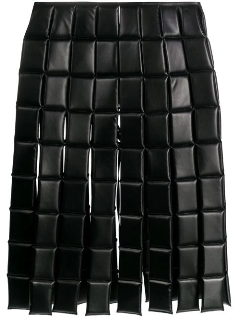 HIWAIST FX LEATHER QUILTED SKIRT