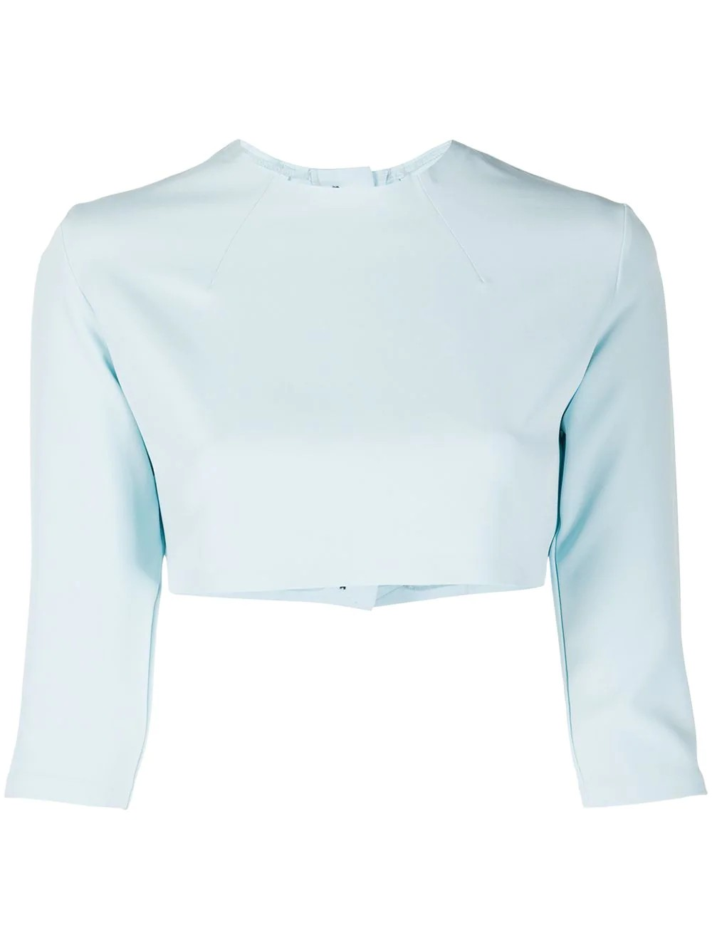 CROP TOP WITH BACK BUTTON CLOSURE