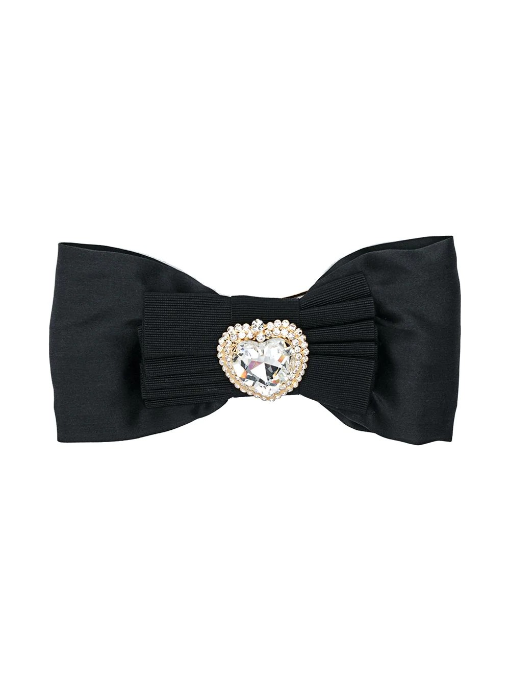 BOW WITH CRYSTAL HEART EMBELLISHMENT