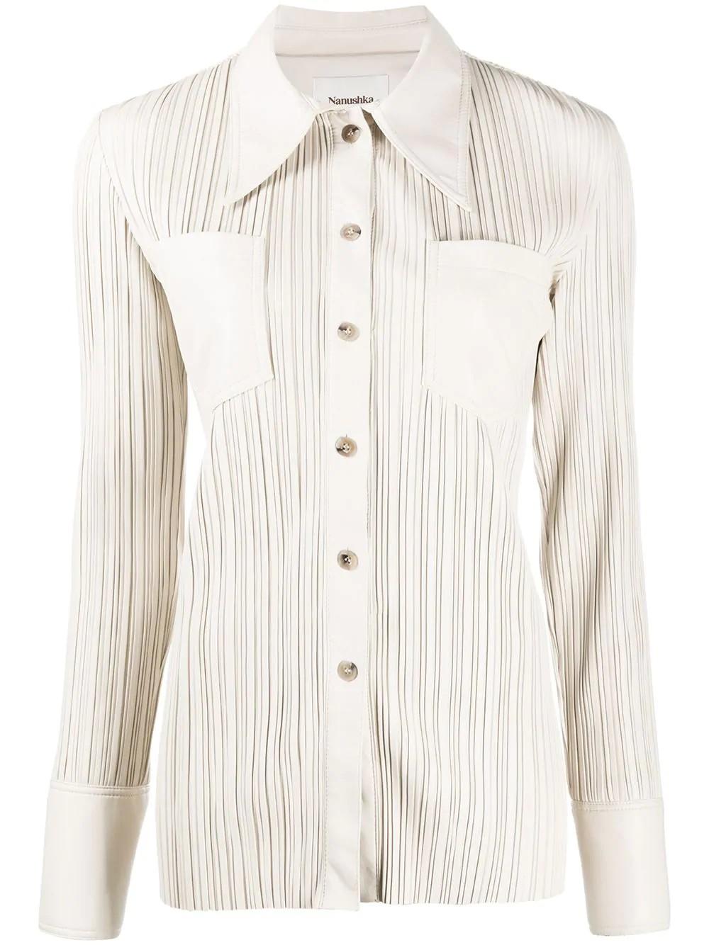long sleeve pleat shirt